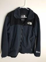 The north face men's Fleece Jacket Black Blue Size MD - $29.65