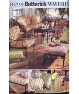 Butterick Pattern 4759 Waverly Patio Cushions Pillow Cover Rug Border Cr... - $10.00