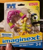 Fisher-Price Imaginext Disney/PIXAR Monsters University Art, Terri & Terry *NIP - $9.99