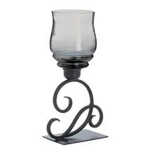 Cursive Votive Candle Stand Smoked Glass - $24.41