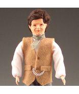 Dollhouse Dressed Caco Victorian Man DHS01160 Tan Vest Miniature - $46.08