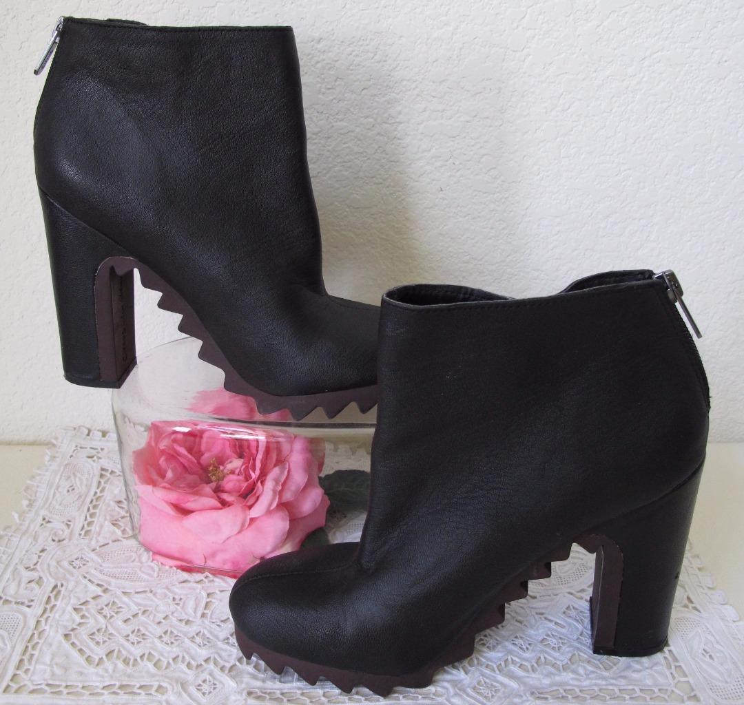 21fa2702cc8c S l1600. S l1600. Sam Edelman Circus Extreme Tread Kensley Bootie Ankle Boot  8.5M US Black Leather ...