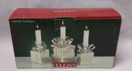 Silver Plate Candle Holders: Home for the Holidays, Present, Gift Taper ... - $30.47