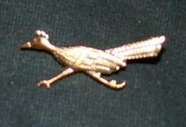 Vtg ROAD RUNNER Southwestern Native American Style Solid Copper Brooch P... - $8.00