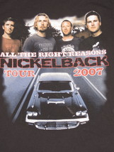 Concert Nickelback Tour 2007 Shirt Medium Black All The Right Reasons Ro... - $37.20 CAD