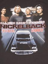 Concert Nickelback Tour 2007 Shirt Medium Black All The Right Reasons Ro... - $37.80 CAD
