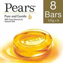 Pears Pure And Gentle Bathing Bar, 125g (Pack Of 8) , Pears Pure And Gen... - $35.59