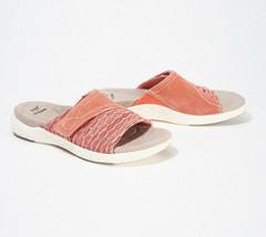 Earth Origins Suede/Knit Slide Sandals - Westfield Westley Terracotta 8.5 M - $34.64