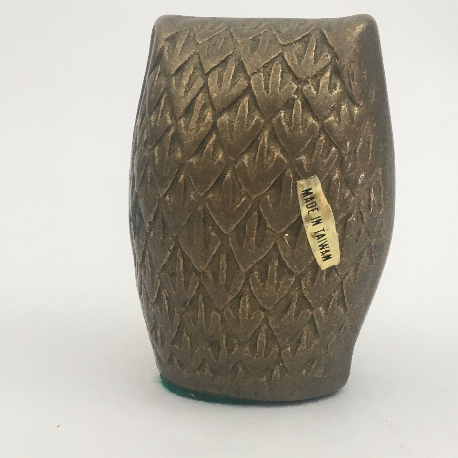 "Vintage Mid Century Modern Brass Owl Figurine 2 1/2"" Great Patina"