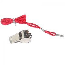 Emergency Soccer Referee With Lanyard Football Whistle Metal image 2
