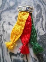 Old Vintage Boy Scouts BSA Webelos Name Plate Colors Shoulder Badge Ribb... - $9.99