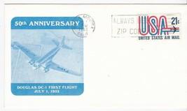 50th ANNIVERSARY DOUGLAS DC-1 FIRST FLIGHT SANTA MONICA CA JULY 1 1983 - $1.78