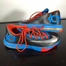 Nike Zoom KD  Kevin Durant  Sz 12,  Black/Blue with Lime Red accents. Nice! - $38.61
