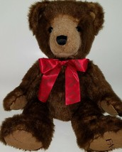 "FAO Brown Teddy Bear Plush 16"" Sitting Stuffed Animal Toy R Us SOFT Red ... - $39.55"