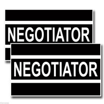 NEGOTIATER HELMET TOOLBOX BUMPER PACK OF 4 STICKER DECAL USA MADE - $22.55
