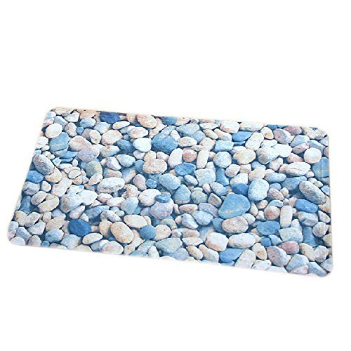 Baby Infant Bathing Mat Toddler Non-Slip Rug Stones Pattern