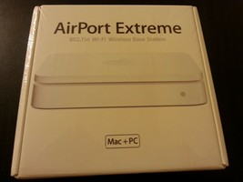 Apple AirPort Extreme Base Station Wireless N Router 1st Gen MA073LL/A - $168.29