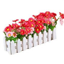 George Jimmy Artificial Flowers Arrangement Room Components Wood Fence Floral De - $19.94