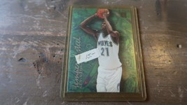 "Kevin Garnett 1995/1996 Fleer Metal "" Tempered Steel "" Rookie Card #4 Of 12 - $9.89"