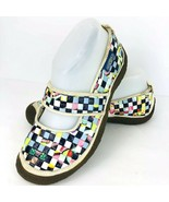 Keen Harvest Women Multicolor Woven Mary Jane Shoe 7.5 Flats Checkered I... - $49.49
