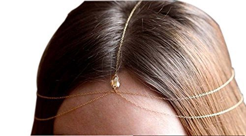 Bride Frontlet Forehead Chain Retro Tassel Headdress, Simple Gem
