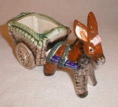 Planter Occupied Japan  Donkey Cart  Ears Up - $35.00