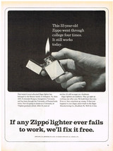 Vintage 1962 Magazine Ad Zippo Lighters Are Stubborn They Go Right On Working - $5.93