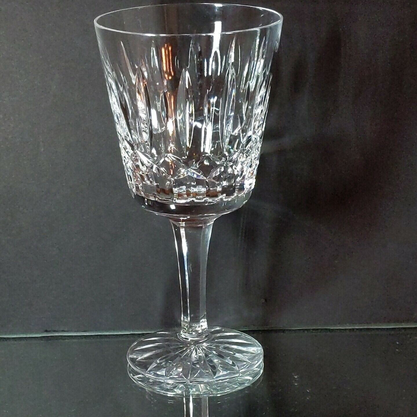 16 pc ATLANTIS Heavy Cut Lead Crystal FATIMA 8 Water & 8 Wine Goblets image 3