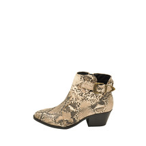 Qupid MONTANA 27X Beige / Brown Snake Women's Pointy Toe Ankle Boots - $38.95