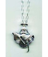 can can DANCING LADY pendant NECKLACE chain dancer metal statement jewelry - $7.99