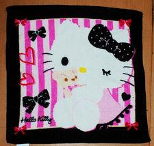 Hello Kitty Cartoon & Teddy Bear Strip & Bow 34 X 35 Cm Cotton Face Hand Towel - $8.88