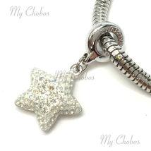 Swarovski European Hang Bracelet Charm Stainless Steel BeCharmed Pave Crystal image 10