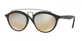 Ray Ban Gatsby II Sunglasses RB 4257 c. 6253/B8 Matte Black Silver Mirror 53mm - $112.19