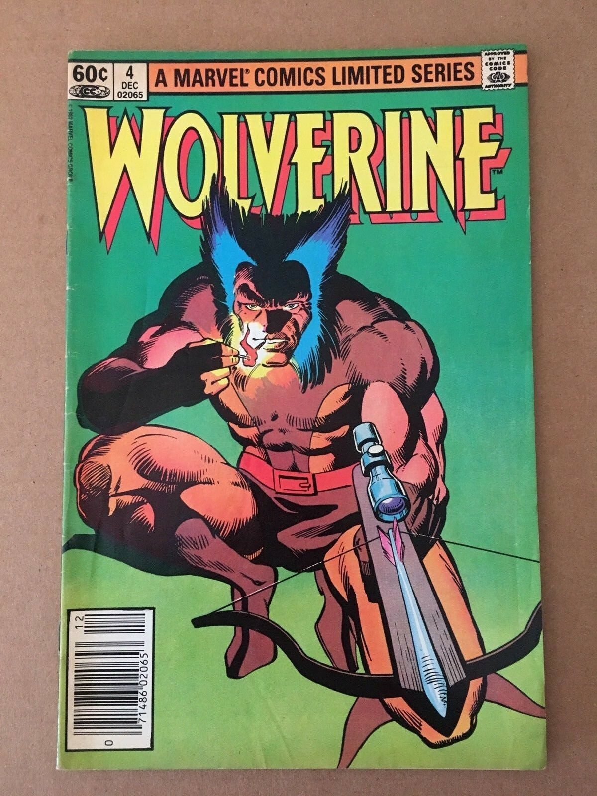 Wolverine #4 1982 Marvel Comic Book FN Condition Frank Miller