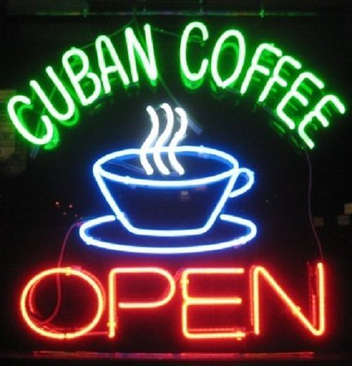 "New Coffee Cuban Coffee Cafe Open Real Glass Neon Sign 24""x20"""