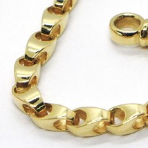 SOLID 18K YELLOW GOLD BRACELET, 21 CM, 8.3 INCHES, 3 MM DROP TUBE LINK, POLISHED image 2