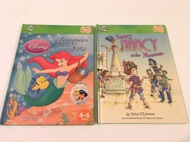 Lot 2 Leapfrog Tag Reader Books Girl Themes Adventures Under the Sea Fan... - $11.99