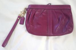 Coach Ergo Magenta pink leather pleated capacity wristlet 41507 - $32.00