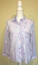 Victorias Secret Multi Color Purple Paisley Night Sleep Shirt Size Small - $9.99