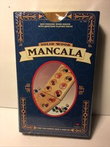 **FUN FOR TWO** Solid Wood Mancala *Sealed New** - $14.99