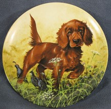 Missing The Point Irish Setter Collector Plate Field Puppies Lynn Kaatz Dog - $21.95