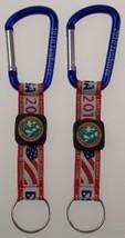 2010 BSA National Jamboree Carabiner Lot 2 Key Chain Boy Scout Fabric USA Flag - $5.89