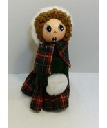 Handcrafted Doll in North Carolina Tartan Dress With Matching Ermine Muf... - $49.98