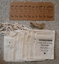Wedding Batchoret Party Bags × 10!! Recovery kit!! Hangovers only last a... - $5.49