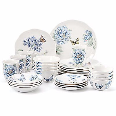 Lenox Butterfly Meadow Blue Dinnerware Set 28 Piece