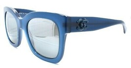 Chanel 5357 c.1571/W6 Women's Sunglasses Blue / Mirrored Gray 140 mm ITALY - $146.72