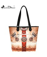 """Montana West"" Native American Collection Fabric Wide Tote Bag COFFEE Az... - $37.36"