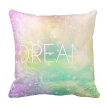 New Pastel Complete Throw Pillow DREAM 20 x 20 Cotton Baby Nursery Kid's... - ₨6,064.33 INR