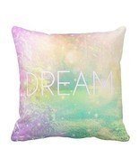 New Pastel Complete Throw Pillow DREAM 20 x 20 Cotton Baby Nursery Kid's... - £62.71 GBP