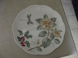 Lenox Butterfly Meadow holiday dragonfly 9 1/4 inch luncheon plate 1 available - $4.26